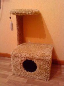 сделать дом для кошки своими руками