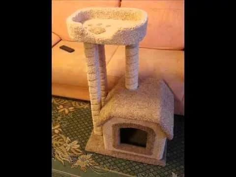 Как самому сделать домик для кошек своими руками