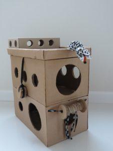 Как правильно сделать домик для кошки из картона своими руками