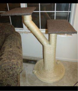 Как правильно сделать когтеточку для кошки своими руками