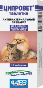 Как применять таблетки Ципровет для кошек
